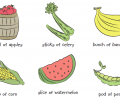 Rehabilitation Lesson Kit #10: Fruits and Vegetables